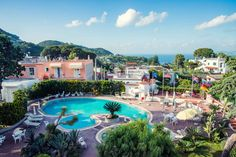 Thermal pool @ Hotel Internazionale Ischia - info@hotelinternazionaleischia.com, Via Acquedotto 33, 80070 Barano d'Ischia NA,  Tel: +39081901315 Outdoor Swimming Pool, Swimming Pools, Thermal Pool, Das Hotel, Island, Mansions, House Styles, Water, Outdoor Pool