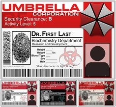 Umbrella Corp ID Tag by ryoshi-un on deviantART