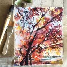 Sometimes all we need is to feel free - art is the best way for... #акварельнаяживопись #рисунокакварелью #акварель #landscape #autumn #treepainting #etsyshop #etsyfinds #etsygifts #etsy #topcreator #canotstoppainting #watercolorpainting #watercolour #watercolor #waterblog #painting #landscapepainting #worldofartists #sketch_daily #skrien #art_share #arts_help #inspiring_watercolors #instart #art #aquarela #aquarelle by canotstoppainting