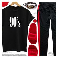 """""""Red and black"""" by pastelneon ❤ liked on Polyvore featuring Ivy Park"""