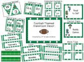 Football-Themed Classroom Decor product from 3rd-Grade-Gridiron on TeachersNotebook.com