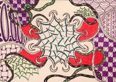 Lieschens-Bilder: Zentangle 310 Weekly Challenge #338