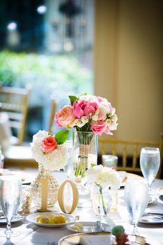 Pink wedding flowers   Elegant Pink and Gold Wedding