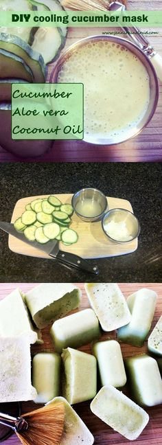 DIY Cooling Cucumber Mask Cucumbers are the  basic ingredient in a lot of cosmetical products, beacause it contains many vitamins and antioxidants.Cucumber has extraordinary properties like moisturizing, nourishing and astringent. Cucumber has the same pH as the skin and helps in strengthening the protection system of the skin. I think this recipe is amazing and it's very easy to make it.