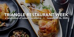 2020 Triangle Restaurant Week, Winter - January 20 to 26 in Raleigh, Durham, Cary and Ch. Triangle Restaurant, Smoked Jalapeno, Salmon Roll, Chef's Choice, Spiced Pecans, Pickled Red Onions, Restaurant Week, Roasted Beets, Pork Belly