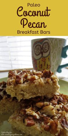 These look yummy! Paleo Coconut Pecan Breakfast Bars - cant have enough easy freezer recipes! #delicious #recipe #easy #glutenfree #recipes