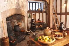 A restored Tudor Kitchen