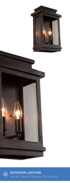 Backed by our industry leading warranty, the Fremont Collection pocket sconce features clean lines encasing a clear three side glass, to make a contemporary style outdoor sconce.