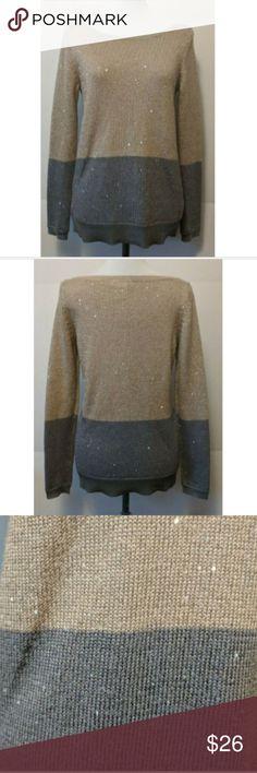 e09ba2a8662 White House Black Market Sequin Color Block White House Black Market women s  sweater Long sleeve
