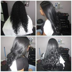 Before and after Dominican blowout for natural hair by us! #Dominicansalon…
