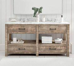 Pottery Barn Paulsen Reclaimed Wood Vanity - Double