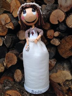 Fofucha con vestido de comunión