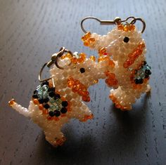 I cannot imagine ever attempting anything this intricate. Truly. Seed Bead Earrings, Beaded Earrings, Seed Beads, Beaded Jewelry, Beading Ideas, Beading Projects, Bead Animals, Fashion Angels, Bead Patterns