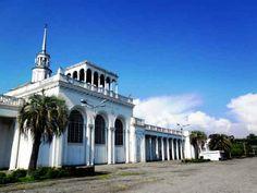 Abandoned railway station in the Republic of Abkhazia: Sukhumi Main Station.