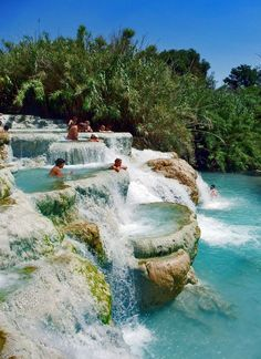 Mineral Baths, Terme di Saturnia , Tuscany, Italy