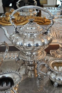 Silver teapot via Splendid Sass: THE DAY IN PINTEREST