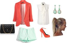 """""""Mint and Peach :)"""" by asia-isabella on Polyvore"""