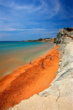 "'Xi, the ""Red"" beach - Kefalonia island' by Hercules Milas Most Beautiful Beaches, Beautiful World, Beautiful Places, Red Beach, Beach Look, Mykonos Town, Road Trip Europe, South America Travel, Landscape Pictures"