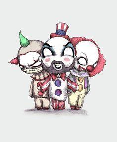 Top Secret Clown Business Fine Art Print by LVBart on Etsy https://www.etsy.com/listing/264492197/top-secret-clown-business-fine-art-print
