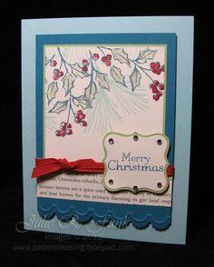 "Paper Pleasing Ideas **** SU ""Watercolor Winter"", 2012 Holiday Mini."
