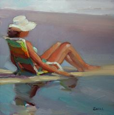 """Front Row Seat"" - Original Fine Art for Sale - © Maryann Lucas Original Oil Painting, Art Painting, Beach Painting, Figure Painting, Original Fine Art, Painting, Oil Painting, Art, Beach Art"