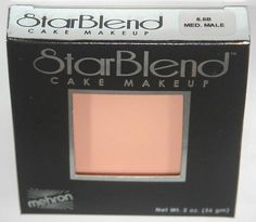 Medium Male - Mehron Starblend Cake Makeup Cosmetic Face Theatrical Stage Professional Quality   eBay $12.99 StarBlend is fade resistant, perspiration resistant and non-streaking, everything that a performer needs under the hot lights. The last thing a performer needs to worry about is the performance of their makeup. StarBlend is the preferred cake makeup of Makeup Artists throughout the entertainment world. StarBlend astoundingly comes in over 50 True Colors as available.