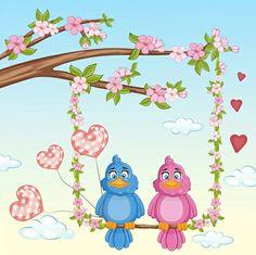 Love Birds 💙🌸💖