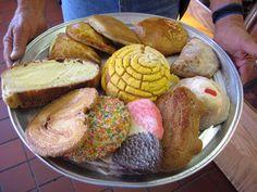Variedad de pan mexicano.  Deliciosos