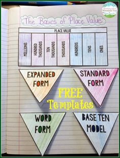 FREE Place Value Foldables for Interactive Notebooks