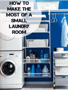 31 Cool Small Laundry Room Design Ideas, A laundry room doesn't need to be a boring location. It need not be boring and basic. Sometimes, it could serve as a storage room as well, where you c. Blue Laundry Rooms, Laundry Closet, Laundry Room Organization, Small Laundry, Laundry Room Design, Laundry Area, Basement Laundry, Garage Laundry, Mud Rooms