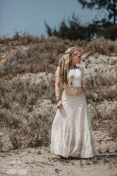 New! PRIMROSE LACE SKIRT - Wedding Bride Bohemian Hippie Boho Gypsy Steam punk Steampunk Burning man Belly dance Plus size - Off white Cream