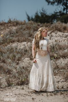 PRIMROSE LACE SKIRT - Wedding Bride Bohemian Hippie Boho Gypsy Steam punk Steampunk Lagenlook Mori Vintage Plus size - Off white Cream