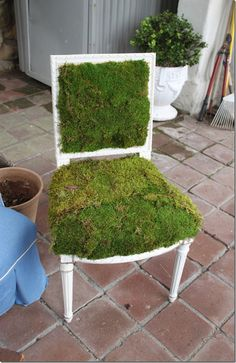 DIY Earth Day Chair-Make Your Own Tutorial--on a smaller scale