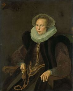 Griete Jacobsdr. van Rhijn, 1605, by Cornelis Ketel