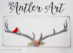 Make your own beautiful DIY Antler Art for Christmas Decor!