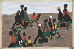 jacob lawrence migration series   41. The South that was interested in keeping cheap labor was making it ...