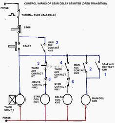 ON OFF 3 Phase Motor Connection Control Diagram Electrical