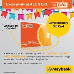 21 Oct-17 Nov 2016: AEON BiG Anniversary Carnival