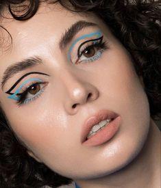 Edgy Makeup, Makeup Eye Looks, Eye Makeup Art, Love Makeup, Skin Makeup, Makeup Inspo, Rave Eye Makeup, High Fashion Makeup, Perfect Makeup