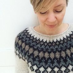 Ravelry: Treysta pattern by Jennifer Steingass Cool Patterns, Beading Patterns, Stitch Patterns, Knitting Charts, Knitting Patterns, Norwegian Knitting, Icelandic Sweaters, Knit Picks, Jenifer