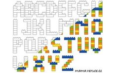 Všechna písmena ke stažení // All letters from Lego Duplo to download #lego #legoduplo #legoletters #legoalphabet #legoabeceda