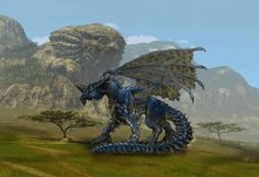 Blue Dragon, chapter art for the Dragons and their Species.