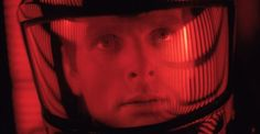 Still of Keir Dullea in 2001 - A Space Odyssey (1968) directed by Stanley Kubrick.