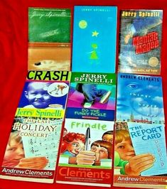 Children's Chapter Books Lot 9 Teachers Spinelli Clements Frindle Magee Stargirl Andrew Clements, Frindle, Last Holiday, Chapter Books, Book Title, Guided Reading, Childrens Books, Good Books, Im Not Perfect