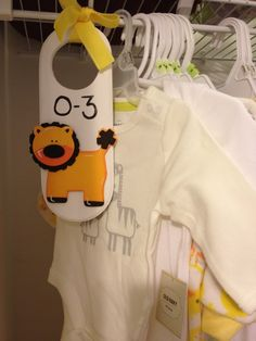 baby clothes divider - craft to do with Gabe