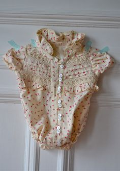 Summer Sewing ~ The Shirt Onesie « Sew,Mama,Sew! Blog  Free tutorial - Holy Crow!!! this is so adorable... and now I can buy the adorable XXS thrift store blouses!!!