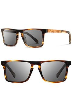 Shwood 'Govy' 52mm Polarized Wood Sunglasses | Nordstrom