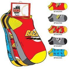 The Big Bang Theory 5 Pair Socks Pack - http://geekarmory.com/the-big-bang-theory-5-pair-socks-pack/