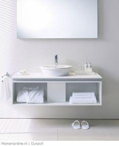 Duravit - Bathroom design series: Washbowls - surface mounted basins from Duravit. Sink Units, Vanity Units, Duravit, Countertop Basin, Countertops, Next Bathroom, Bathroom Ideas, Powder Room Vanity, Wall Mounted Basins