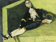Léon Spilliaert (Belgian, 1881-1946),La Poupée (Marquis)[The Doll (Marquis)], 1927. Gouache, watercolour and India ink on paper, 47.5 x 63.4 cm.